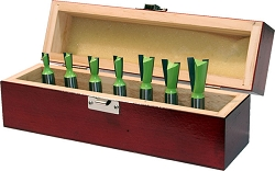 7 Pc TCT Dovetail Bit Set